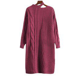 Robe pull femme à manches longues -