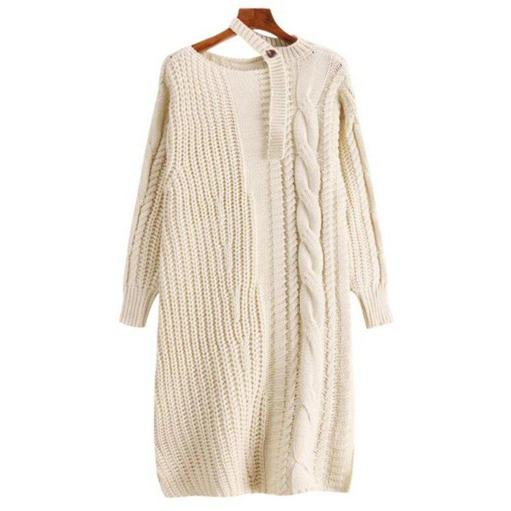 Buy Women's Long Sleeve Loose Sweater Dress