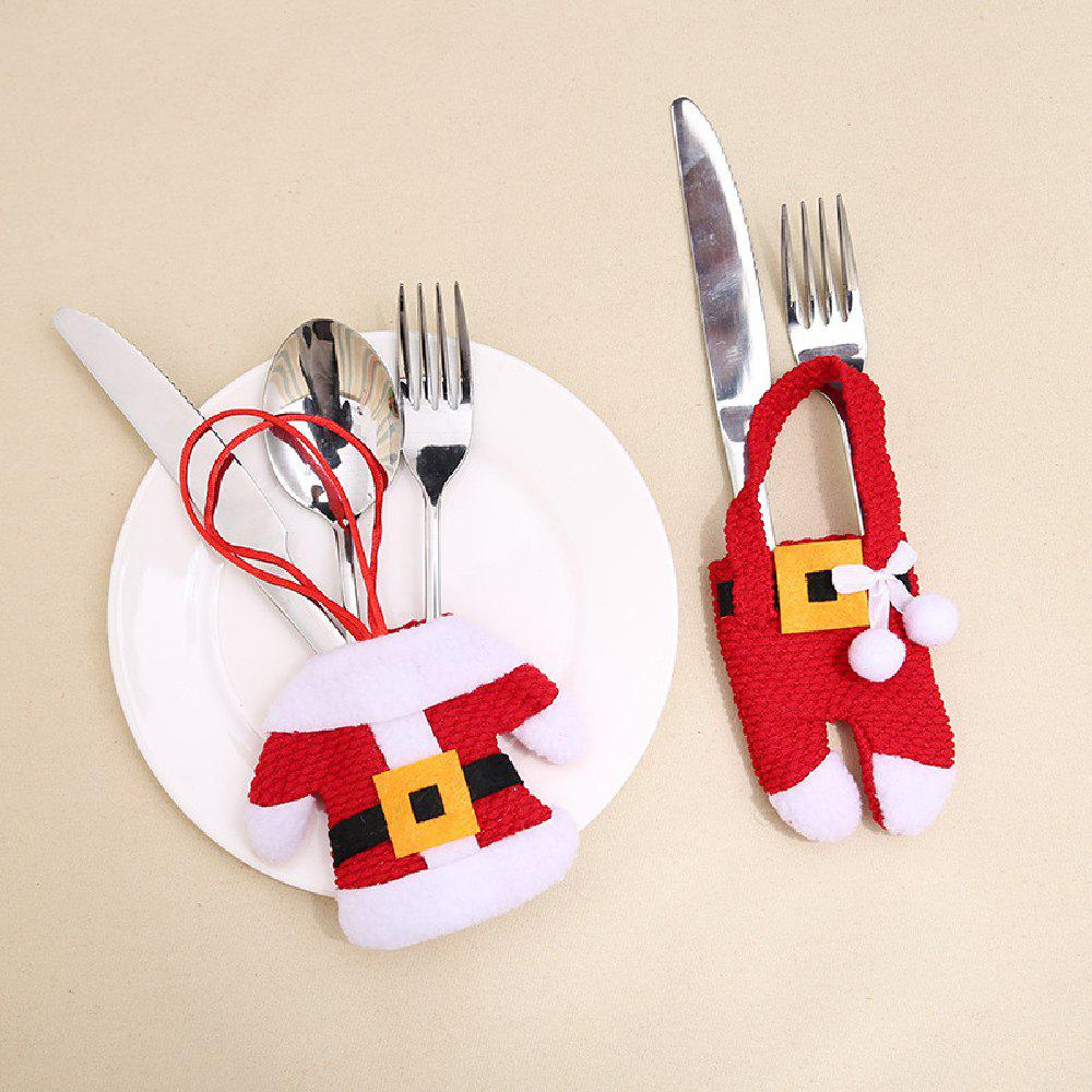 Online YEDUO New Year Merry Christmas Knife Fork Cutlery Set Skirt Pants