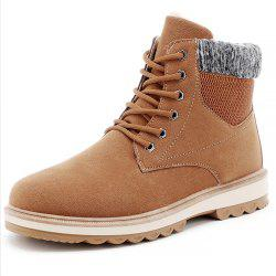 Men Winter Cotton-Padded Warming High-Cut Shoes -