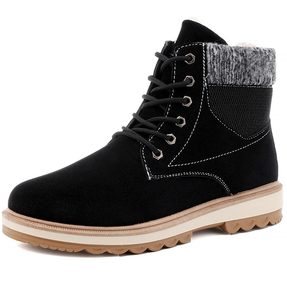 Discount Men Winter Cotton-Padded Warming High-Cut Shoes