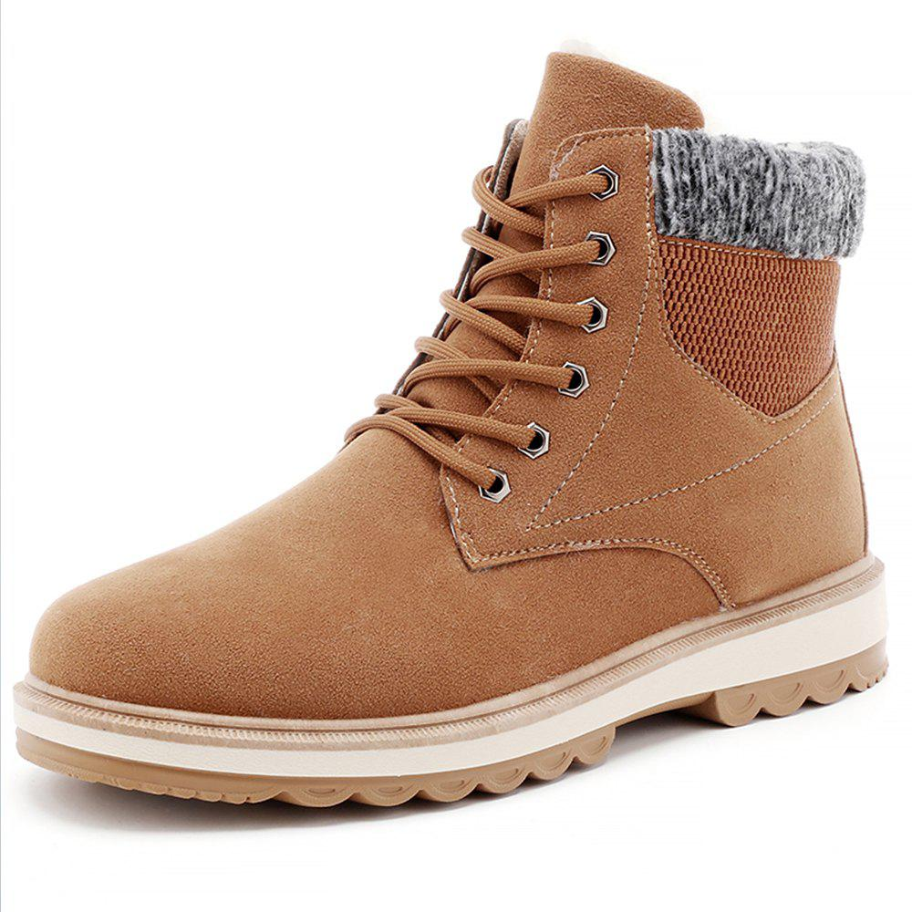Latest Men Winter Cotton-Padded Warming High-Cut Shoes