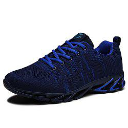 Men Fly-Knit Fashion Mixed Color Sneakers -
