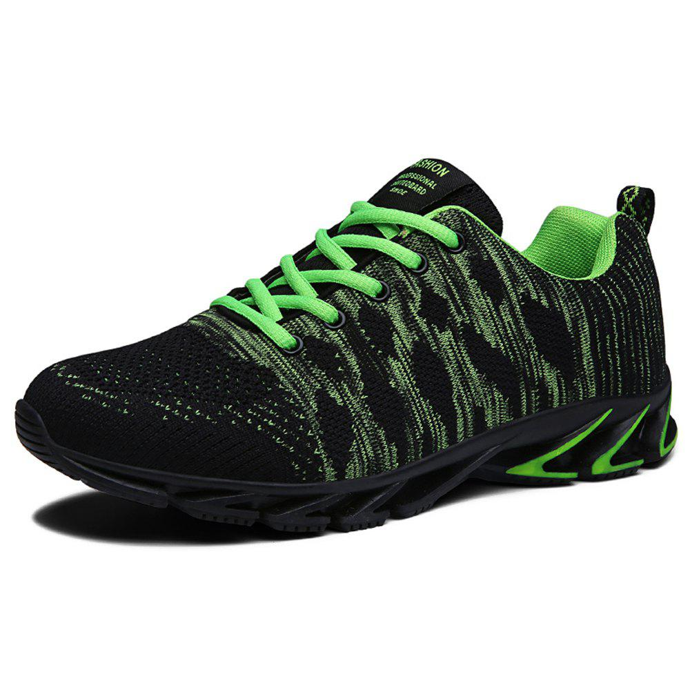 Online Men Fly-Knit Fashion Mixed Color Sneakers