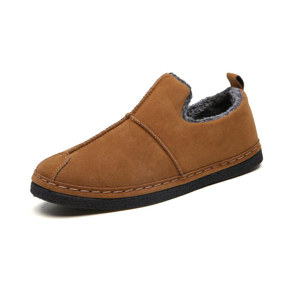 Hot Men Winter Cotton-Padded Warming Brief Casual Slip-on Shoes
