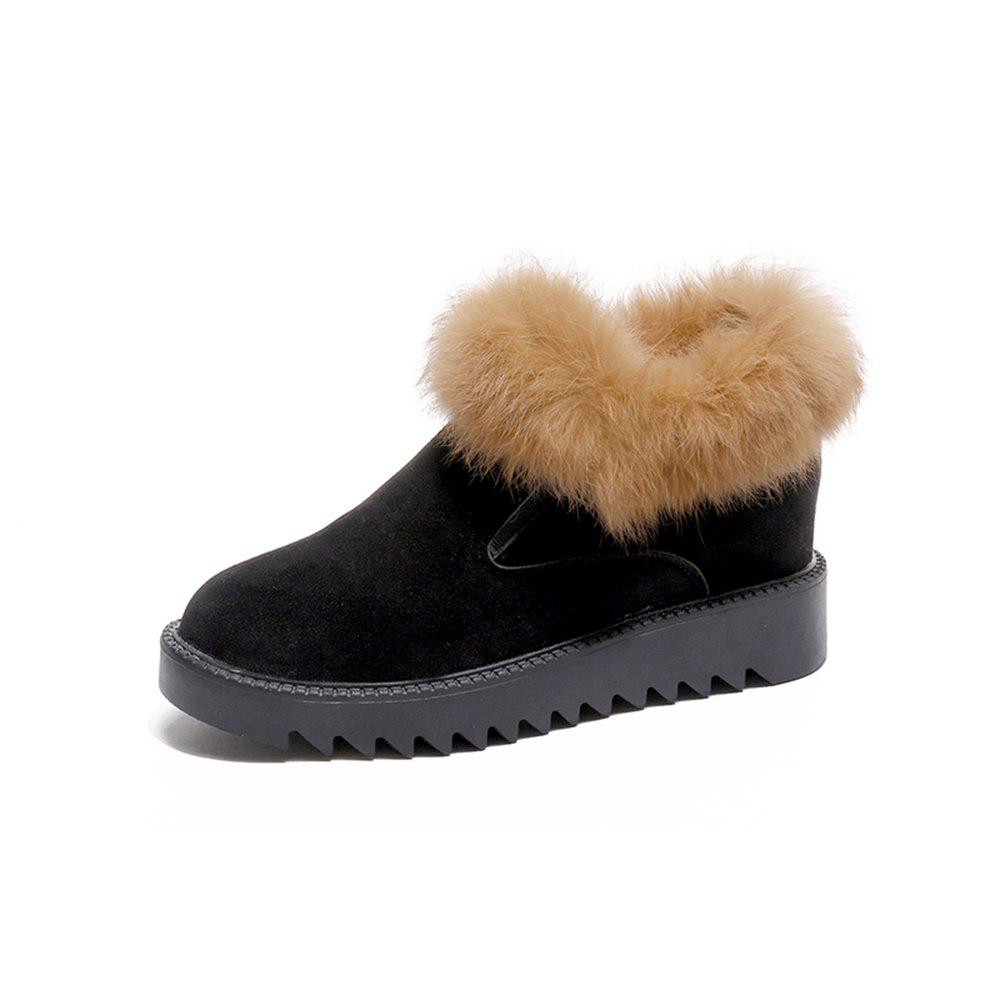 Hot Warm Flat Bottomed Cotton Shoes