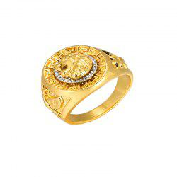 Hip-Hop Style Men'S Personality Domineering Lion Head Modeling Alloy Ring -