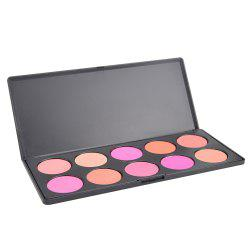 10 Color Blush Palette for Face -