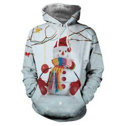 Winter Sports Christmas 3D Digital Print Mens Hoodie -