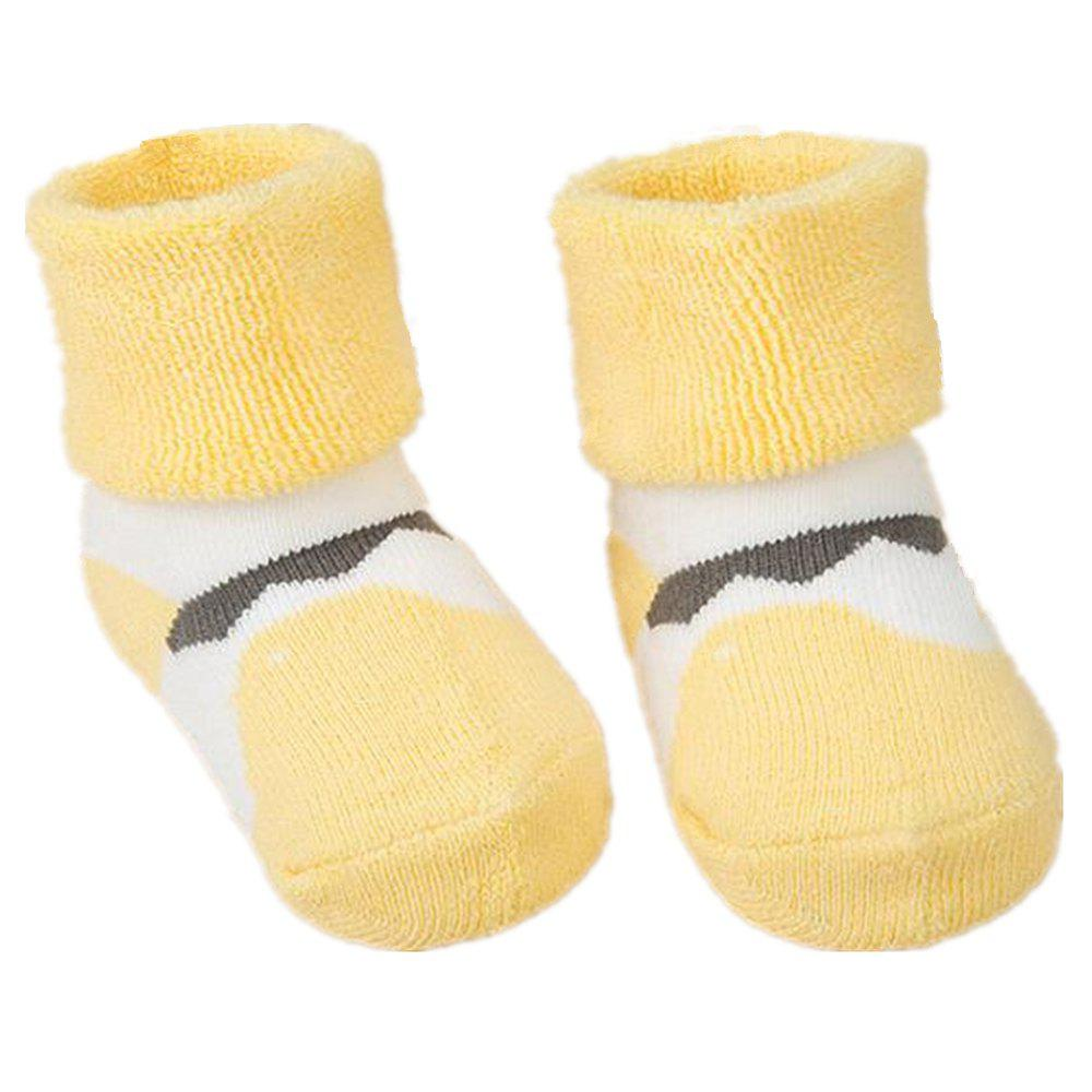 Best 2Pcs Cute Cartoon Printed Thick Breathable Infant Booties Baby Shoe Socks