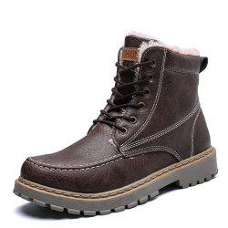 Winter Warm Men'S High Top  Boots -