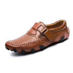 Men'S Comfortable Leather Magic Sticker Casual Shoes -
