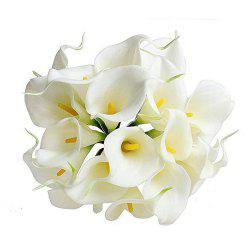 10pcs Calla Lily Artificial Flowers Wedding Bridal Bouquet Latex Real Touch Home -