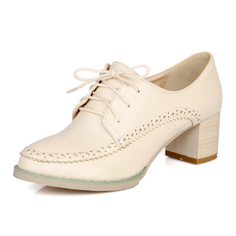 College Casual Chaussures en dentelle rugueuses et rondes