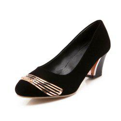 Medium Thick Suede Sequined Round Head Women Shoes -