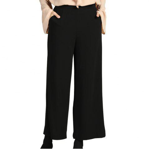 SBETRO Women Black Wide Leg Pants Office Ladies Female Fashion Work Trousers