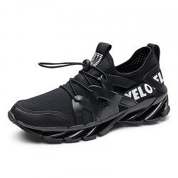 Men'S Flying Woven Mesh Lightweight Breathable Cushioning Casual Sports Shoes -