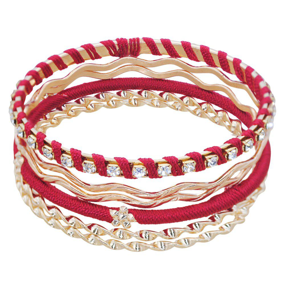 Affordable Multi Layer Braided Red Hand String Bracelet