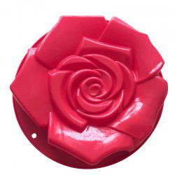 Silica Gel Single Super Rose Cake Модель Форма Жареный диск DIY Baking Tool -