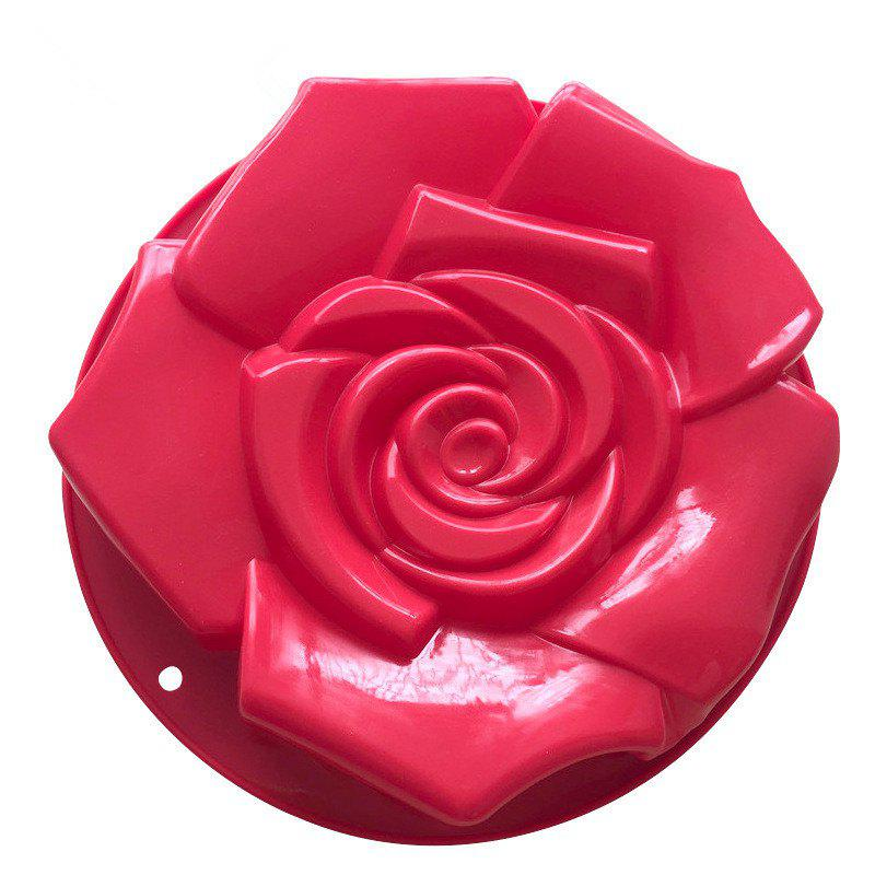 Silica Gel Single Super Rose Cake Модель Форма Жареный диск DIY Baking Tool