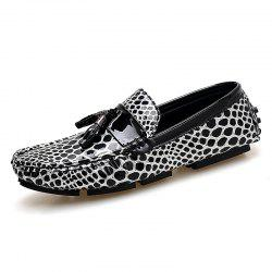 Дышащие кожаные куртки Loafers Casual Shoes Slip On Driving Shoes -