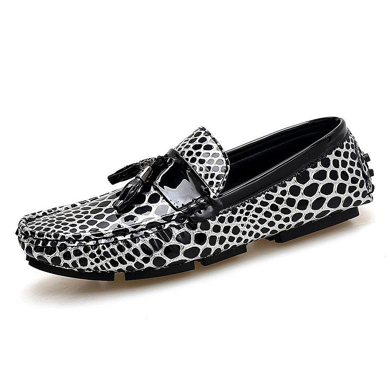 Дышащие кожаные куртки Loafers Casual Shoes Slip On Driving Shoes