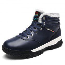 Winter Boots Men Shoes Warm Fur Snow Boots -