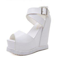 Women's Wedge Shoes Fashion Sandals Black -