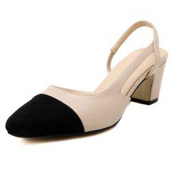 Women's Pointed Toe Chunky Heel Open Side Shoes Casual Sandals -