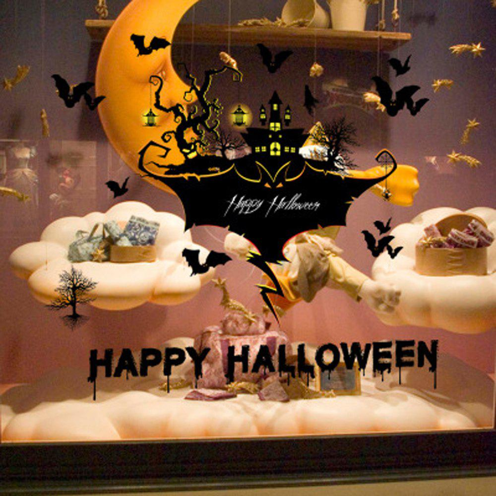 Halloween Haunted House Bar Corner Tidy Cartoon Wall Sticker Window