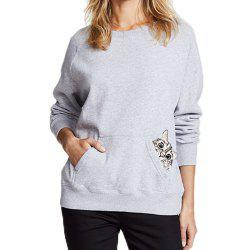 Cartoon  Embroidery Long-Sleeved Sweater -