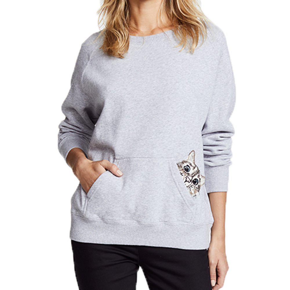 Discount Cartoon  Embroidery Long-Sleeved Sweater
