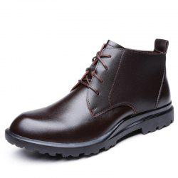 Boots Leather Men'S Boots Boots High Head Layer Cowhide for Men'S Shoes -