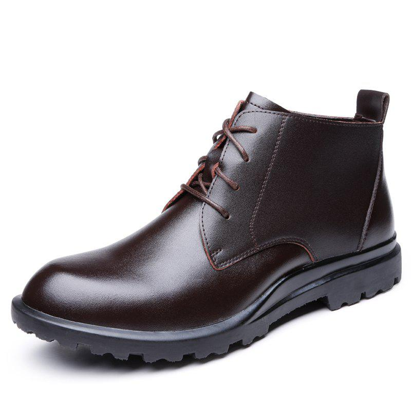 Trendy Boots Leather Men'S Boots Boots High Head Layer Cowhide for Men'S Shoes