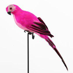Parrot Macaw window Display gardening Decoration bird Foam Feather -