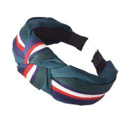 Fashion Stitching Stripe Headband -