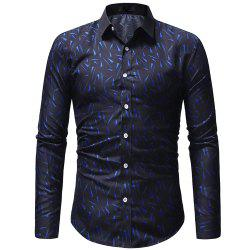 Men's Print Series Casual Slim Long Sleeve Print Shirt -