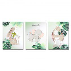 DYC 3PCS Lovely Central Animals Print Art -