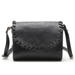 Vintage Small Women Bag  Knitting Shoulder Bag High Quality PU Leather Bags -