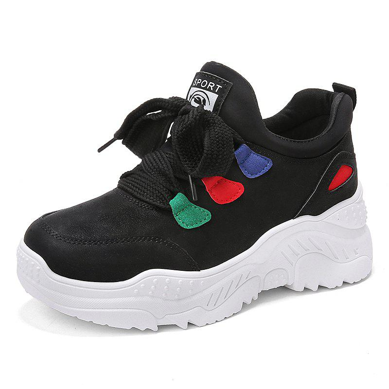 Affordable Autumn and winter fashion tide shoes thick bottom women sneakers