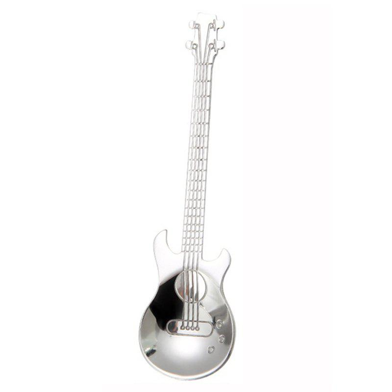 Online Stainless Steel Guitar Coffee Stirring Music Creative Gift Spoon