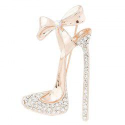 Bow Diamond High Heel Brooch Chest and Flower Accessories -