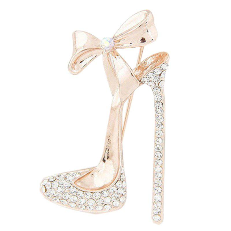 Fashion Bow Diamond High Heel Brooch Chest and Flower Accessories