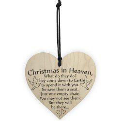 Wooden Handicraft Heart-Shaped Home Christmas Tree Small Pendant -