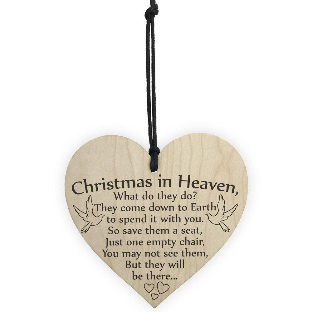 Buy Wooden Handicraft Heart-Shaped Home Christmas Tree Small Pendant