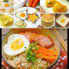 5 Pcs Stainless Steel Cooking Shaper Mould Frying Pan Fried Egg Pancake -