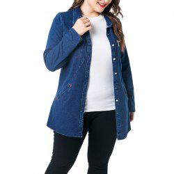Pockets Long Sleeve Jean Jacket -