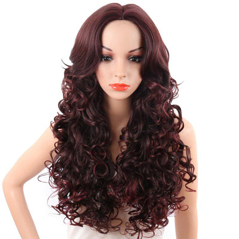 Online Central Parting Hair Style Fluffy Small Curl Long Wig