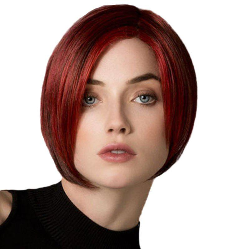 Fashion Partial distribution type Smooth Straight Bob Haircut Short Wig