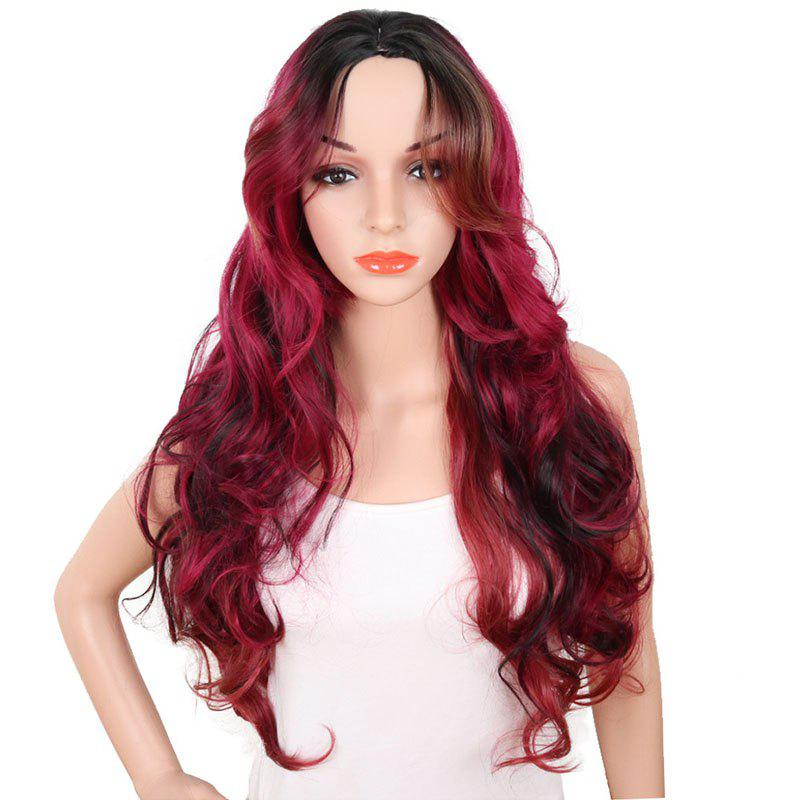 Fashion Central Parting Hair Style Big Wave Gradient Ramp Long Wig
